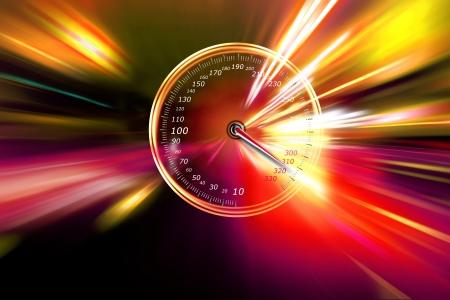 excessive speed on the speedometer Stock Photo - 16856332