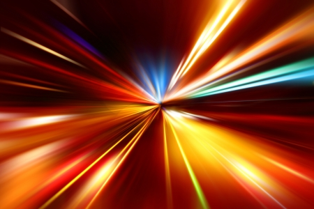 abstract acceleration speed motion on night road Stock Photo - 16931029