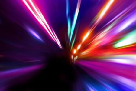 acceleration speed motion on night street Stock Photo - 17033383
