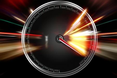 excessive speed on the speedometer Stock Photo - 17257762
