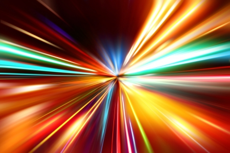 abstract acceleration speed motion on night road Stock Photo - 17335443