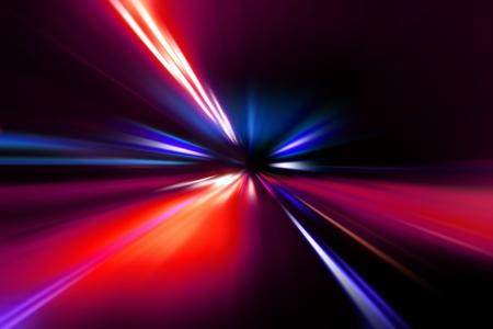 speed motion on night road Stock Photo - 17621931