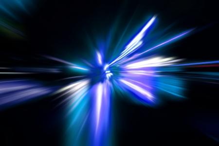 speed motion on night road Stock Photo - 17621933