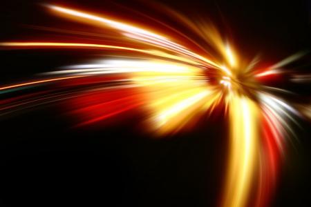 speed motion on night road Stock Photo - 17622260