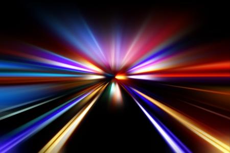 speed motion on night road Stock Photo - 17907304