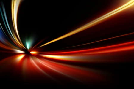 abstract night acceleration speed motion on road  Standard-Bild