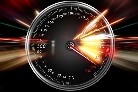 nepřiměřená rychlost na rychloměru Reklamní fotografie