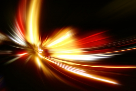 speed motion on night road Stock Photo - 18880095