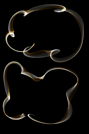 inkle: abstract golden silver ribbon frames