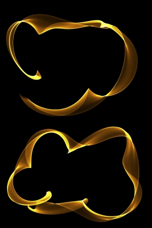 inkle: abstract golden ribbon frames