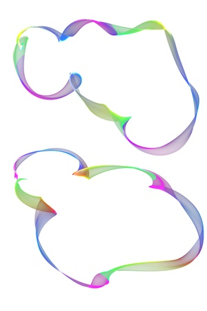 inkle: abstract colorful ribbon frames Stock Photo