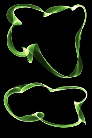 inkle: abstract green ribbon frames