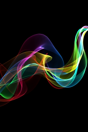 variegated: abstract colorful ribbon waves  Stock Photo
