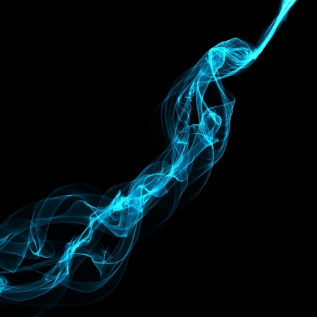 abstract blue smoke waves  photo