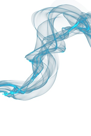 variegated: abstract blue smoke waves