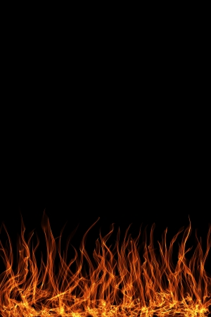 abstract flame on a black background