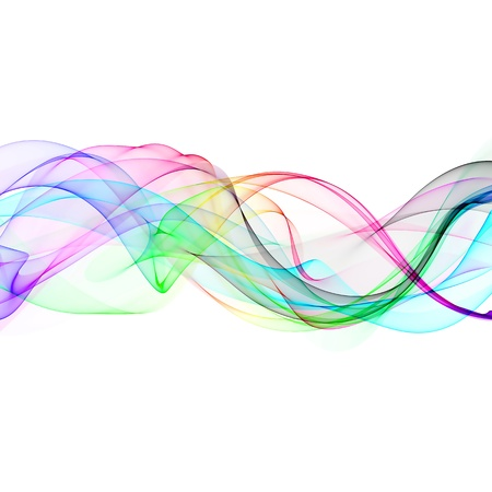 abstract colorful ribbon waves  photo