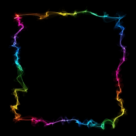 inkle: abstract colorful frame on a black