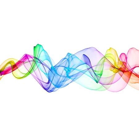 abstract colorful ribbon waves  Stock Photo