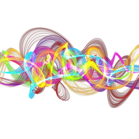 medley: abstract colorful twisted waves