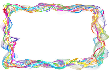 inkle: abstract colorful ribbon frame