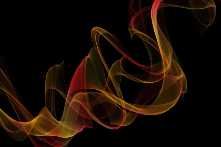 inkle: abstract  red yellow ribbon frames