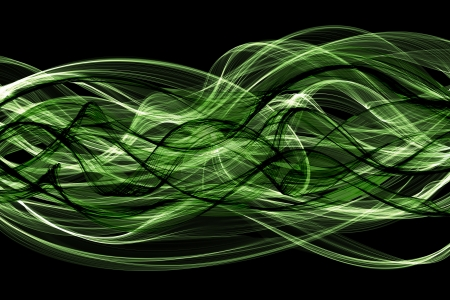 abstract green twisted net wave photo