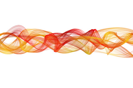 medley: abstract red yellow twisted net wave