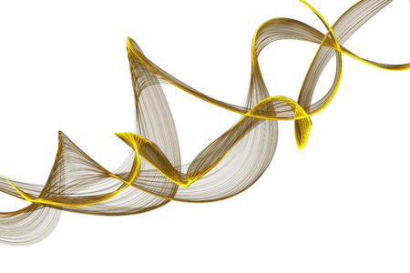 abstract yellow ribbon waves  photo