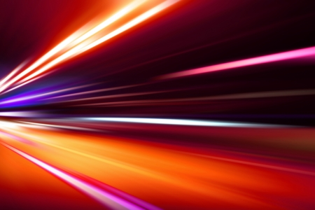 acceleration speed motion on night road photo