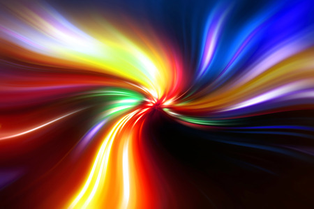 original abstract colorful flash on a black background photo