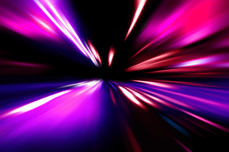 acceleration: red blue acceleration speed motion on night road Stock Photo