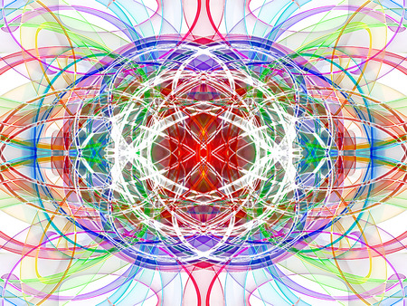 symmetrical: abstract multicolored wavy symmetrical pattern