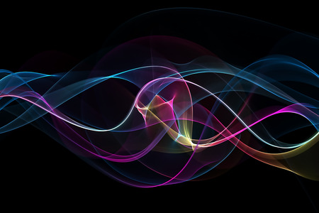 abstract waves: abstract multicolored waves Stock Photo