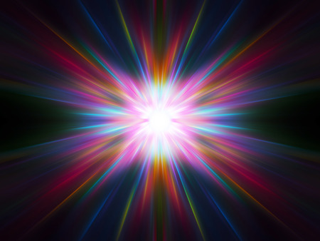 abstract colorful radiant explosion Stock Photo