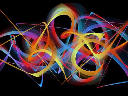medley: abstract colorful graffiti