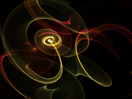 abstract golden twisted  waves Stock Photo