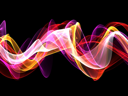 abstract multicolored waves Stock Photo