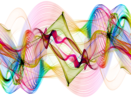 medley: abstract colorful twisted net web waves