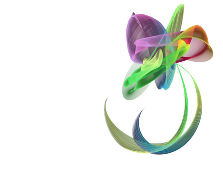 colorful abstract flower on a white background photo