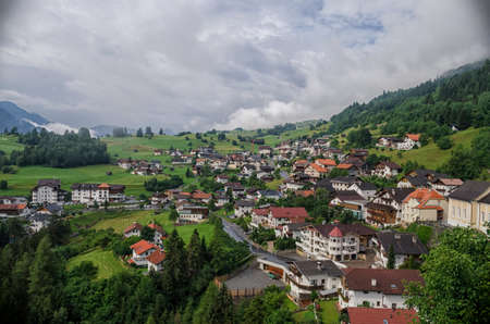 tyrol: View from castle Laudegg to Ladis village, Tyrol, Austria