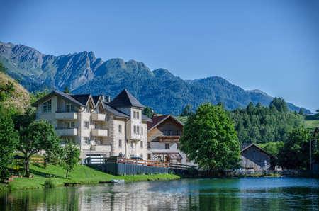 tyrol: Lake Laudegg in Ladis, Tyrol, Austria