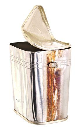 tin can: Rusty tin can