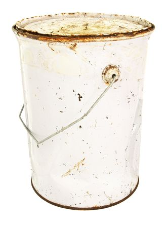 Rusty old paint tin