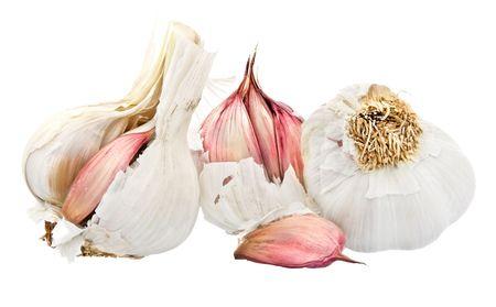 Three garlic bulbs photo