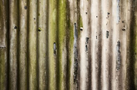 Distressed corrugated iron photo