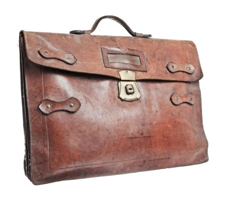 attache: Brief case isolated against a white background Stock Photo