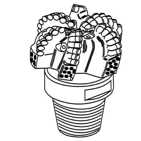 PDC Drilling Bit Illustration
