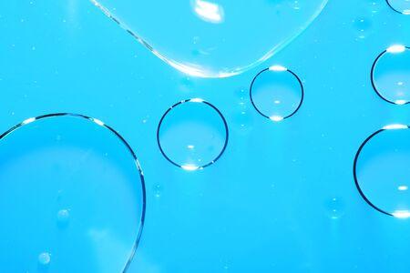 Abstrait. Biologie, physique, chimie abstrait. l'interaction de l'eau et de l'huile