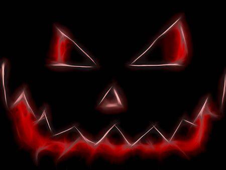 terrible stylized halloween pumpkin Zdjęcie Seryjne